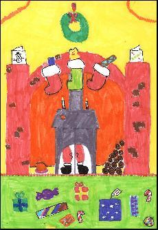 Example Christmas Cards for School Drawing, helping Moreton Say C.E Primary School School with Fundraising