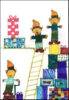 Example Christmas Cards for School Drawing, helping Dr Walkers C of E Primary School School with Fundraising