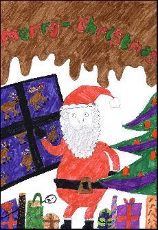 Example Christmas Cards for School Drawing, helping Hallbrook Primary School School with Fundraising