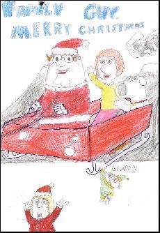 Example Christmas Cards for School Drawing, helping St Mark's Primary School School with Fundraising